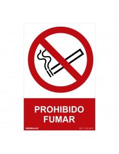 "Señal prohibido ""prohibido fumar"" (pvc 0.7mm)  30x40cm"
