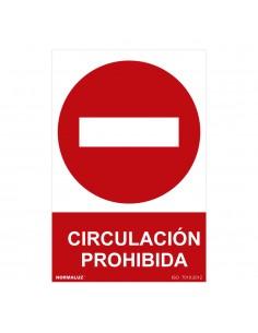 "Señal prohibido ""circulacion prohibida"" (pvc 0.7mm)  30x40cm"