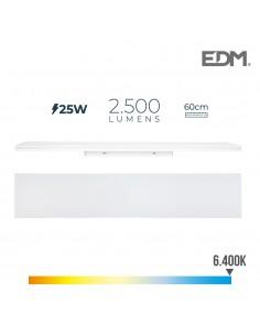 Regleta led 25w 60cm 6400k luz fria 2500 lm edm