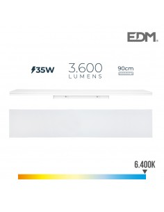 Regleta led 35w 90cm 6400k luz fria 3600 lm edm