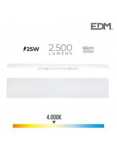 Regleta led 25w 60cm 4000k luz dia 2500 lm edm