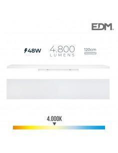 Regleta led 48w 120cm 4000k luz dia 4800 lm edm