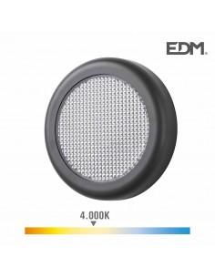 Aplique led 6w 450 lumens 4.000k luz dia ip65 redondo edm
