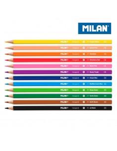 Pack 12 lapices de colores milan