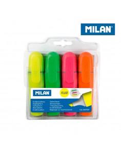 Pack 4 fluorescenes punta biselada milan