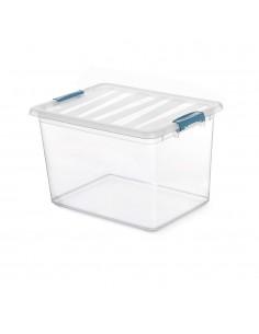 Caja katla transparente 20l con  asas ergonomicas 39x29x25,5cm