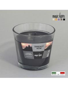 Vela perfumada vaso vidrio sándalo 150gr. magic lights