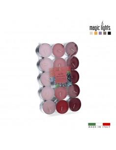 Velas perfumadas frutos rojos 30uni. magic lights