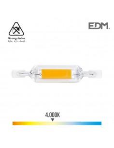 Bombilla lineal led 78mm r7s 7w 625 lm 4000k luz dia ø 16mm edm
