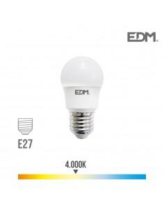 Bombilla esferica led e27 8.5w 940 lm 4000k luz dia edm