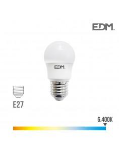 Bombilla esferica led e27 8.5w 940 lm 6400k luz fria edm