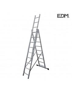 Escalera transformable aluminio 3x9 peldaños edm