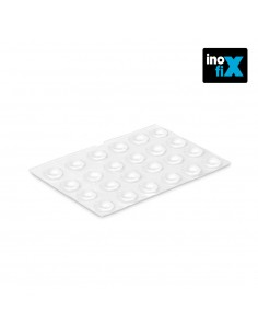 Gota autoadhesiva protectora ø8 x2,2 mm (blister 25 uni.) inofixcolgador sobrepuerta blanco blister  inofix