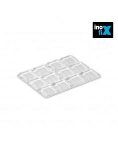 Gota autoadhesiva protectora   ø12,7 x 12,7 x 3,1 mm (blister 12 uni).inofixcolgador sobrepuerta blanco blister  inofix