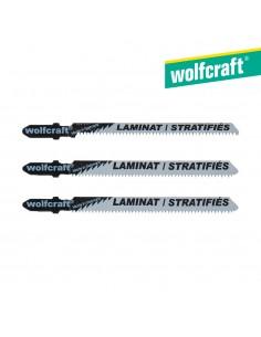 Pack 3 hojas de sierra de calar vástago en t / hcs wolfcraft