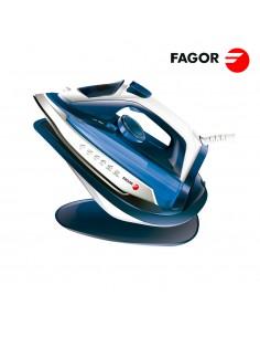 Plancha inalámbrica 2 en 1 con base 2600 w . azul. fagor