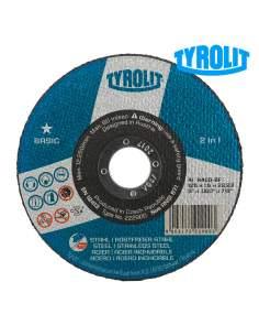 Disco de corte bombeado 42c 125x2,5x22,23 a30q-bfb tyrolit