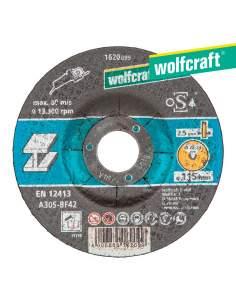 Disco de corte para metal ø 115 x 2,5 x 22,23mm. wolfcraft