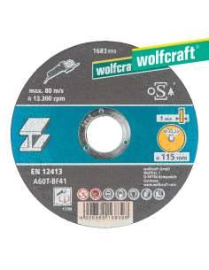 Disco de corte para metal ø 115 x 1,0 x 22,23mm. wolfcraft
