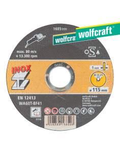 Disco de corte de precisión para acero inoxidable ø 115 x 1,0 x 22,23mm. wolfcraft