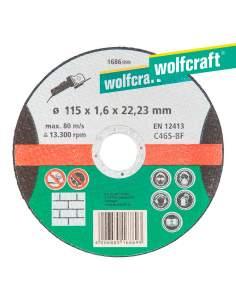Disco de corte de precisión para piedra ø 115 x 1,6 x 22,23mm. wolfcraft