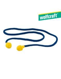 Tapones audioprotectores reutilizables con cordón.  wolfcraft