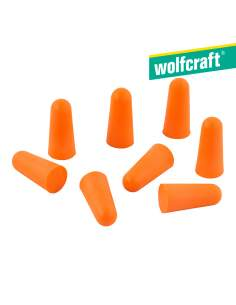 Pack 4 pares de tapones audioprotectores desechables. wolfcraft