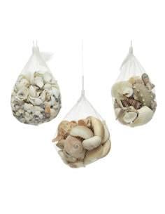 Surtido de caracolas y almejas decorativas 400g