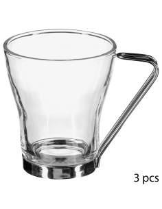 Pack 3 tazas de vidrio 23cl
