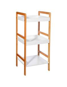 Organizador de baño 3 niveles bambú 80x36x33cm