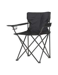 Silla plegable camping 80x83,5x51cm color negro