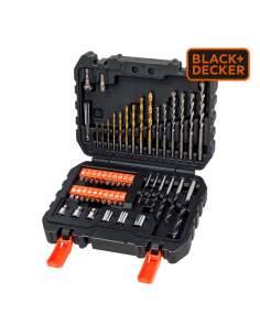 """*s.of* juego de 50 piezas para atornillar y taladrar con brocas """"titanio""""   a7188-xj black+decker"""