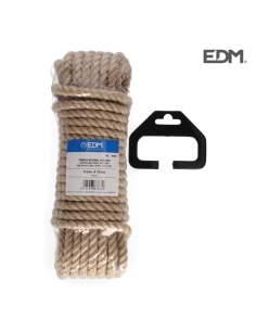 Madeja 10 mt. cuerda natural yute bio. 3 cabos. calibre 8 mm.