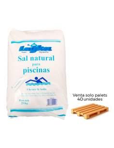 Saco 25kg sal natural para piscinas