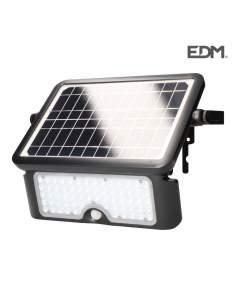 Foco solar 10w 1.150 lumen recargable sensor presencia (2-6m) edm