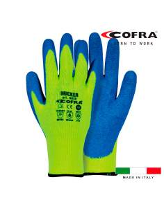 Guante bricker amarillo fluo/azul talla 10 cofra
