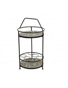 Mesa auxiliar botellero mosaico modelo praga exterior 40x76cm