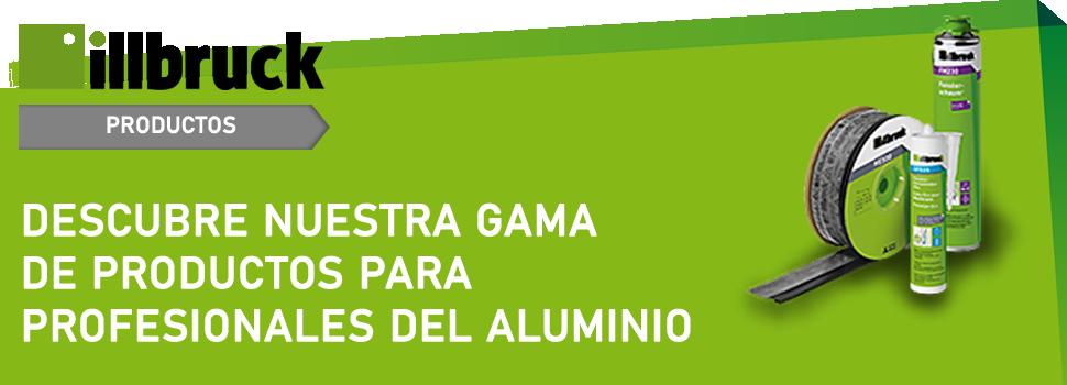 Gama de productos Illbruck para profesionales del Aluminio